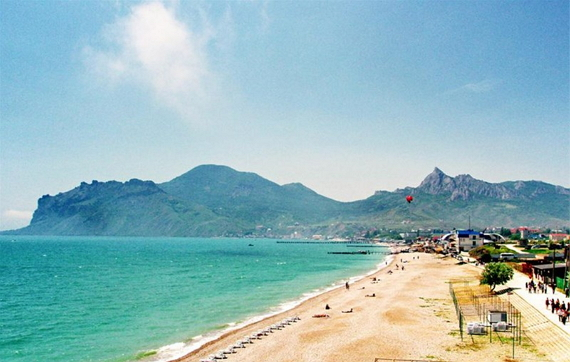Пляж пансионата Голубой залив